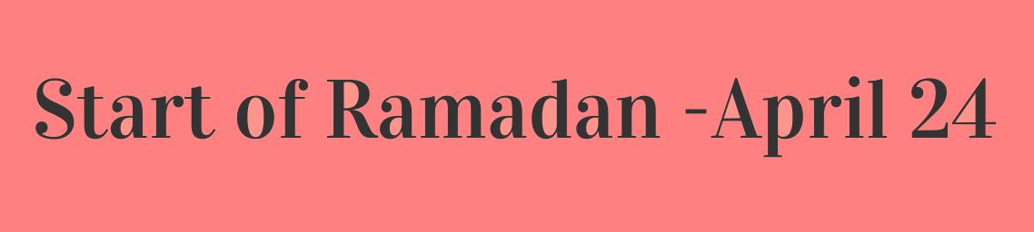 Start of Ramdan